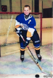 "Patrick Kane poses on the ice during his younger years. Smith: ""He was always that much better than anyone else."""